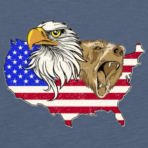 USA Adler eagle grizzly bear America America - Men's Premium T-Shirt