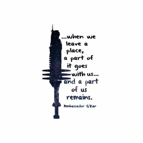 When we leave a place... - Men's Premium T-Shirt