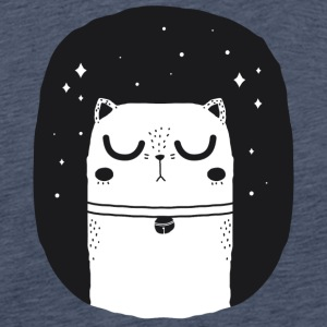 WHITE_CAT - Herre premium T-shirt