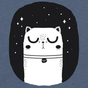 WHITE_CAT - Premium-T-shirt herr