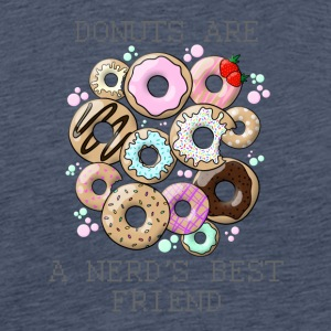 Donuts are a nerd's best friend - gray - Men's Premium T-Shirt