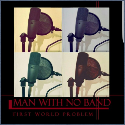 Man with no band - First World Problem - Men's Premium T-Shirt