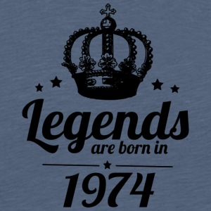 Legends 1974 - Herre premium T-shirt