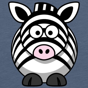 Thick zebra with big eyes comic style - Men's Premium T-Shirt