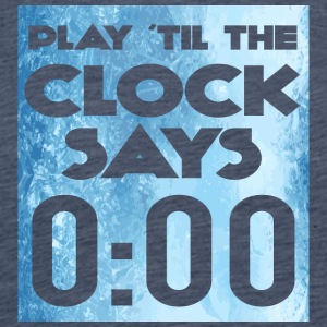 Eishockey: Play ´til the clock says 0:00 - Männer Premium T-Shirt