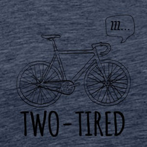 Cycling: Two-Tired - Men's Premium T-Shirt