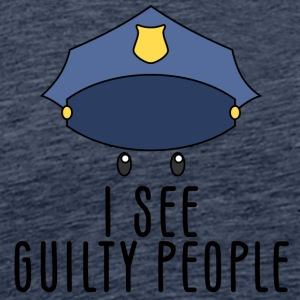 Police: I see guilty people - Men's Premium T-Shirt
