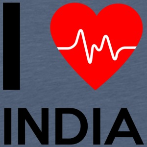 I Love India - I Love India - Men's Premium T-Shirt