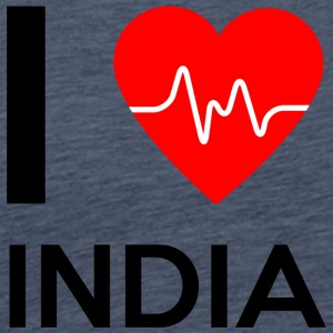 I Love India - I Love India - Premium T-skjorte for menn
