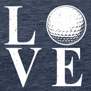 I LOVE GOLF! - Herre premium T-shirt