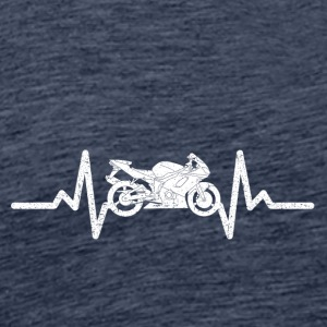 My heart beats for my motorcycle - Men's Premium T-Shirt
