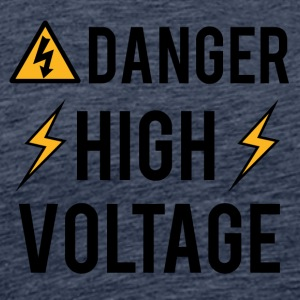 Électricien: Danger! High Voltage! - T-shirt Premium Homme