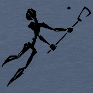 Lacrosse Player Abstract - Men's Premium T-Shirt