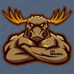 Ace Original Moose - Premium-T-shirt herr