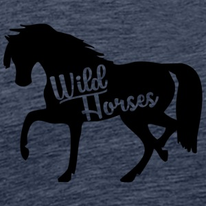 Horse / Farmhouse: Wild Horses - Men's Premium T-Shirt