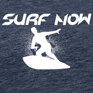 surf now white - Men's Premium T-Shirt