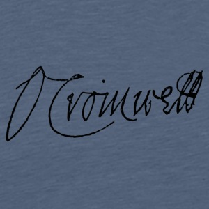 Signature of Oliver Cromwell 1651 - Men's Premium T-Shirt