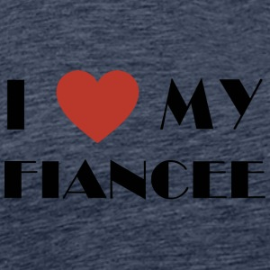 Engaged I Love My Fiancee - Men's Premium T-Shirt