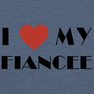 Engagerede I Love My forlovede - Herre premium T-shirt