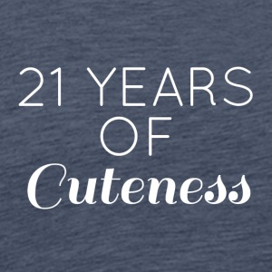 21 Bursdag: 21 Years of Cuteness - Premium T-skjorte for menn