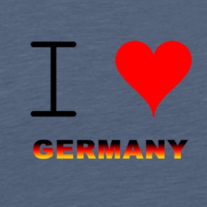 I LOVE GERMANY COLLECTION - Premium T-skjorte for menn