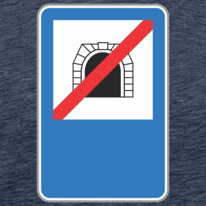 Road sign no train hole - Men's Premium T-Shirt