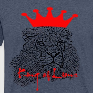 King of Lions - Premium-T-shirt herr