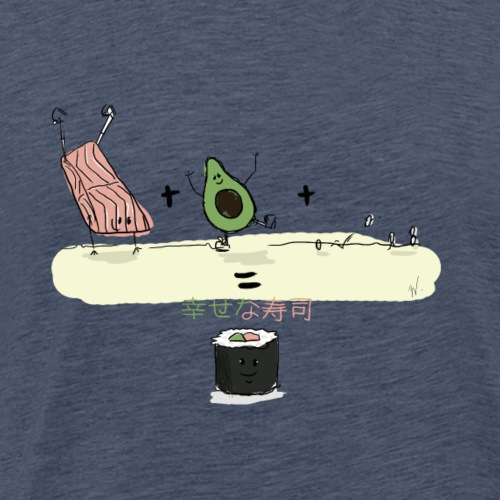 Happy Sushi - T-shirt Premium Homme