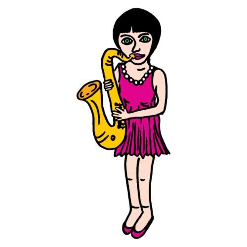 Candy - the saxophone girl - Männer Premium T-Shirt