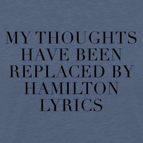 Hamilton The Musical Lyrics - Men's Premium T-Shirt