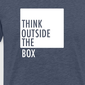 think outside the box be different motivation neu - Männer Premium T-Shirt