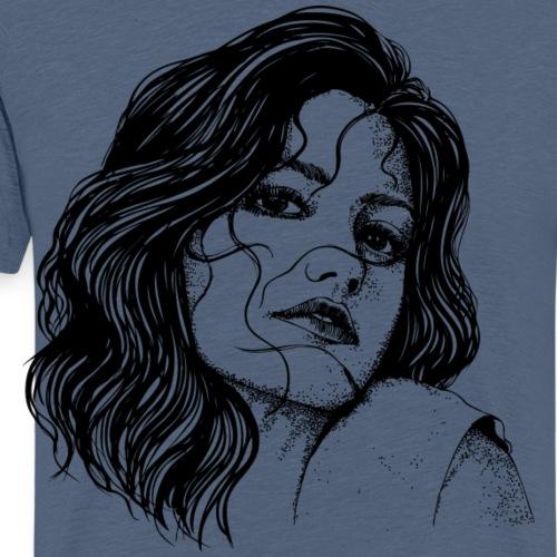 Junge Frau - Männer Premium T-Shirt