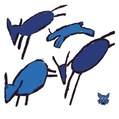 blue sheep - Maglietta Premium da uomo