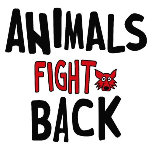 Animals fight back - Maglietta Premium da uomo