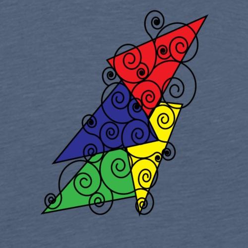 Abstrackt Design 003 - Mannen Premium T-shirt