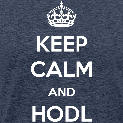 Keep Calm and HODL | White - Men's Premium T-Shirt