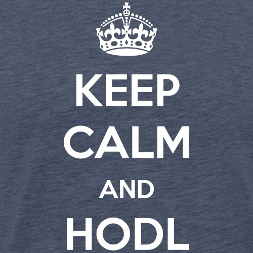Keep Calm and HODL | White - Men's Premium T-Shirt