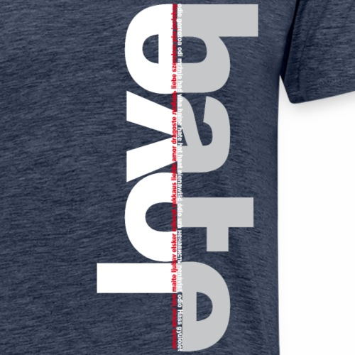 love hate negativo okk - Maglietta Premium da uomo