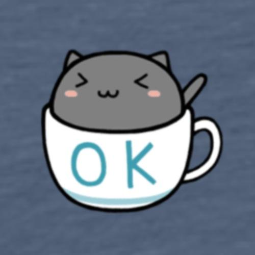 Kotecek w filiżance z napisem OK 1400611 - Koszulka męska Premium