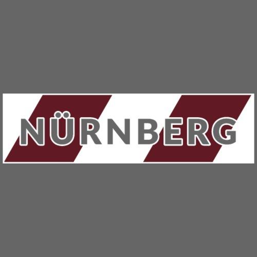 Nürnberg weiß / rot - Männer Premium T-Shirt