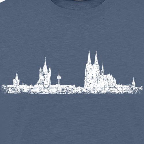 Stadt Köln Kölner Skyline (Vintage Weiß) - Männer Premium T-Shirt