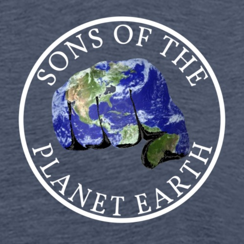 SONS OF THE PLANET EARTH white text no backround - Miesten premium t-paita