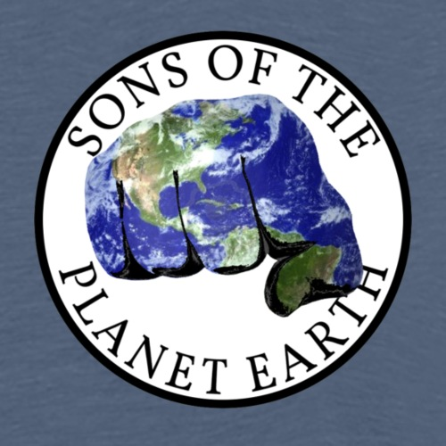 SONS OF THE PLANET EARTH white backround - Miesten premium t-paita