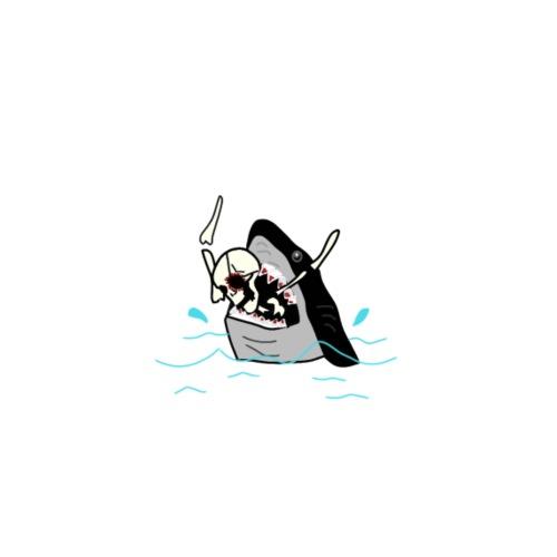 Skeleton Shark - Mannen Premium T-shirt