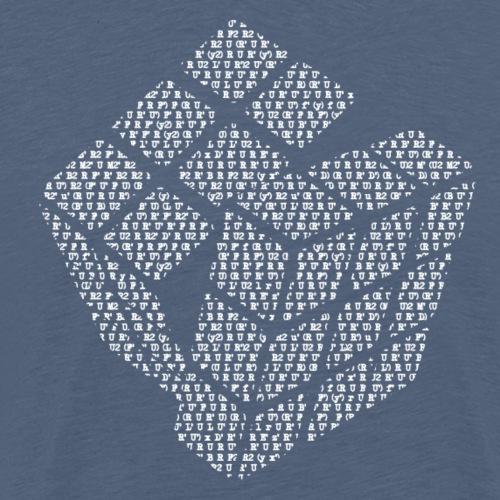 cubewhite png - Men's Premium T-Shirt