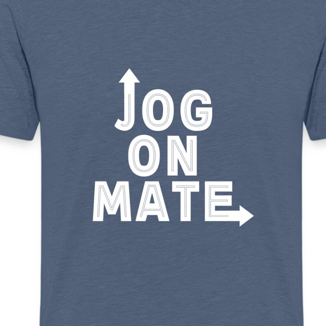 Jog On Mate White png