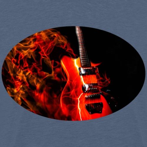 Guitar Fire - Männer Premium T-Shirt