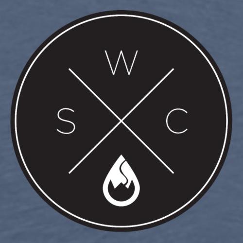 WS-Crew Hipster-Logo rund schwarz - Männer Premium T-Shirt