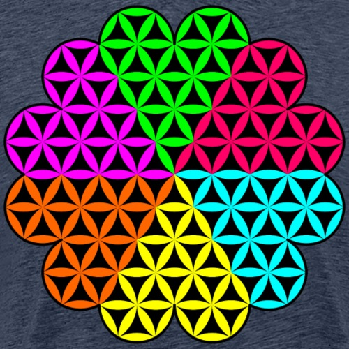 Heart of Life x 6 - colourful design. - Men's Premium T-Shirt