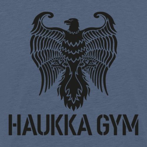 HAUKKA GYM LOGO - Miesten premium t-paita